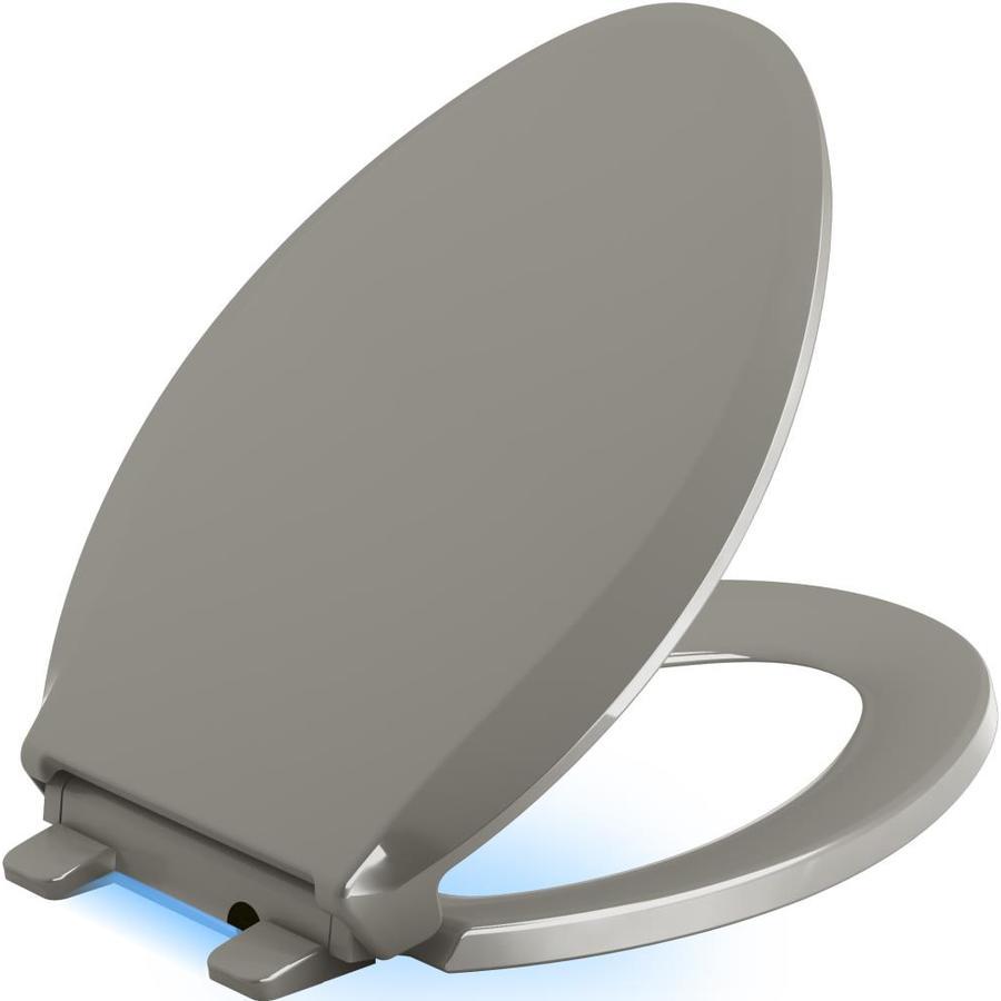 KOHLER Cachet Nightlight Cashmere Plastic Elongated Slow-Close Toilet Seat