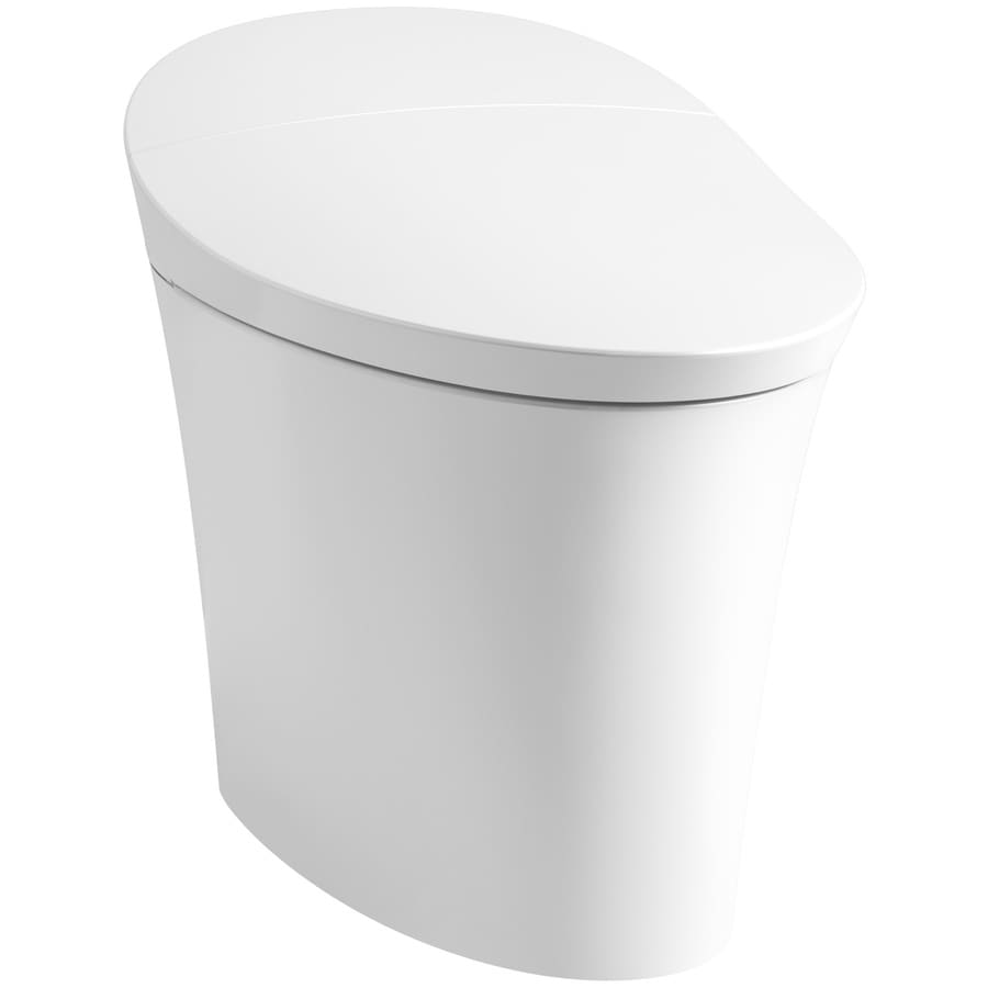 KOHLER Veil White 1.28-GPF 12 Rough-In WaterSense Elongated Pressure Assist Dual-Flush 1-Piece Standard Height Toilet