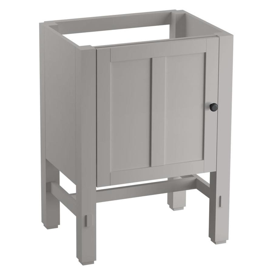 KOHLER Tresham Mohair Grey Contemporary Bathroom Vanity (Common: 24-in x 19-in; Actual: 23.75-in x 18.125-in)