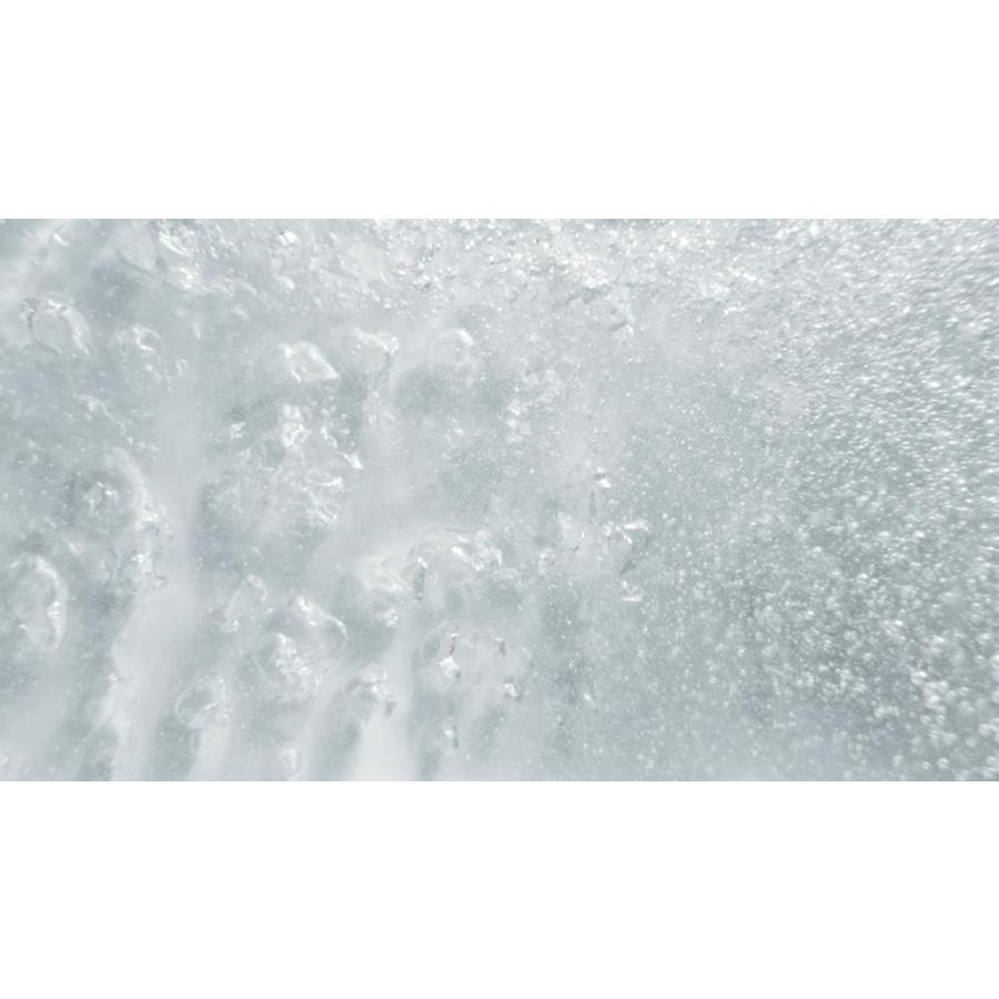 White KOHLER K-1967-G-0 Sunstruck 66 x 36 Oval Freestanding BubbleMassage Air Bath with Fluted Shroud