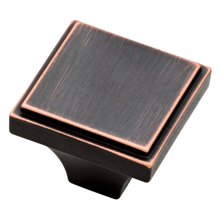 Shop Brainerd Bronze with Copper Highlights Square Cabinet Knob at ...