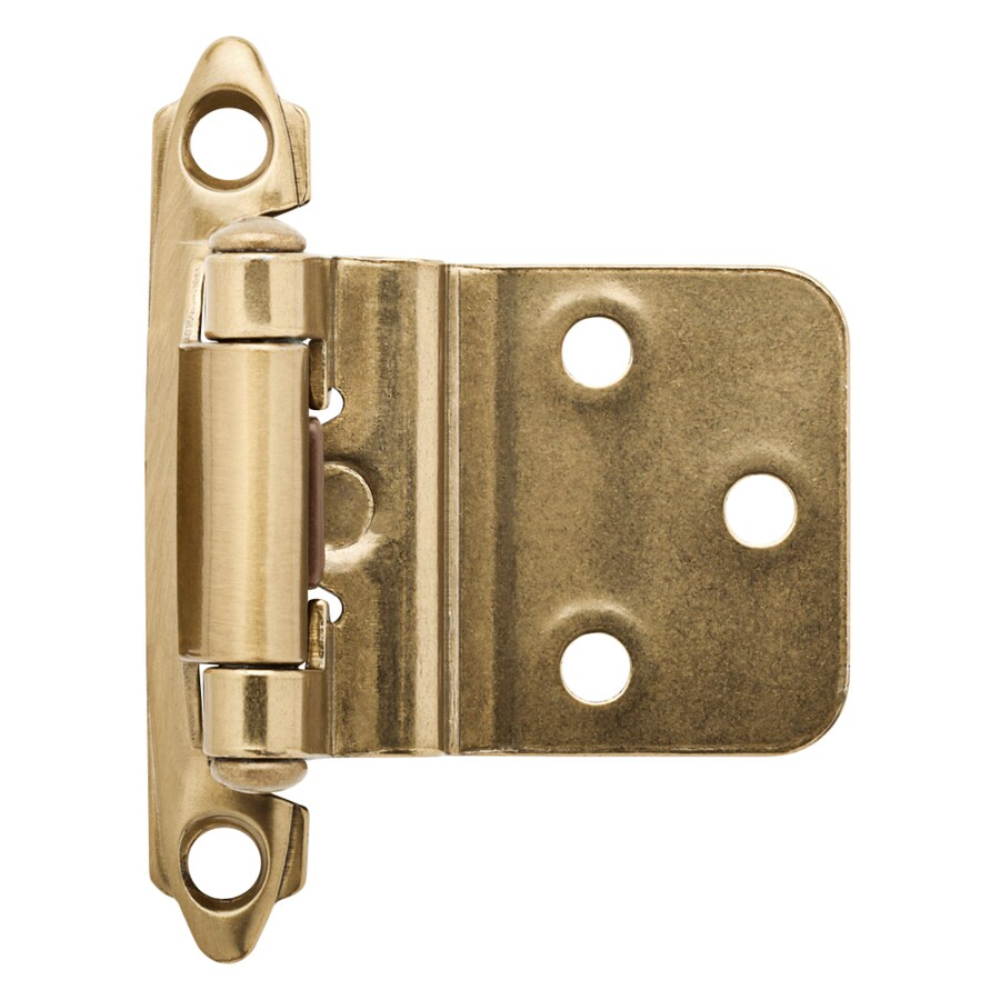 Brainerd 2-Pack 2-3/4-in x 2-1/8-in Champagne Bronze Self-Closing Surface Cabinet Hinges