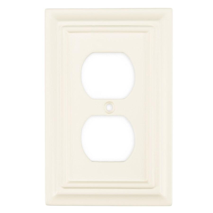 Brainerd 1-Gang Cream Toggle Wall Plate