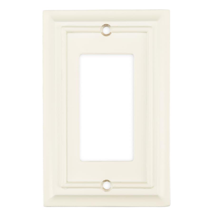 Brainerd 1-Gang Cream Decorator Wall Plate