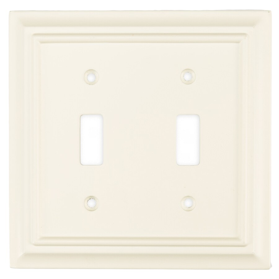 Brainerd 2-Gang Cream Toggle Wall Plate