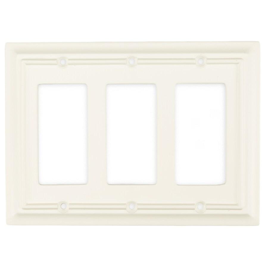 Brainerd 3-Gang Cream Decorator Wall Plate
