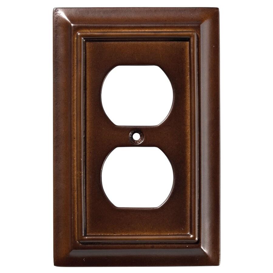 Brainerd Wood Architectural 1-Gang Espresso Single Duplex Wall Plate
