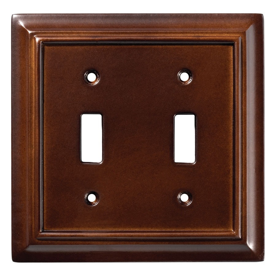 Brainerd Wood Architectural 2-Gang Espresso Double Toggle Wall Plate