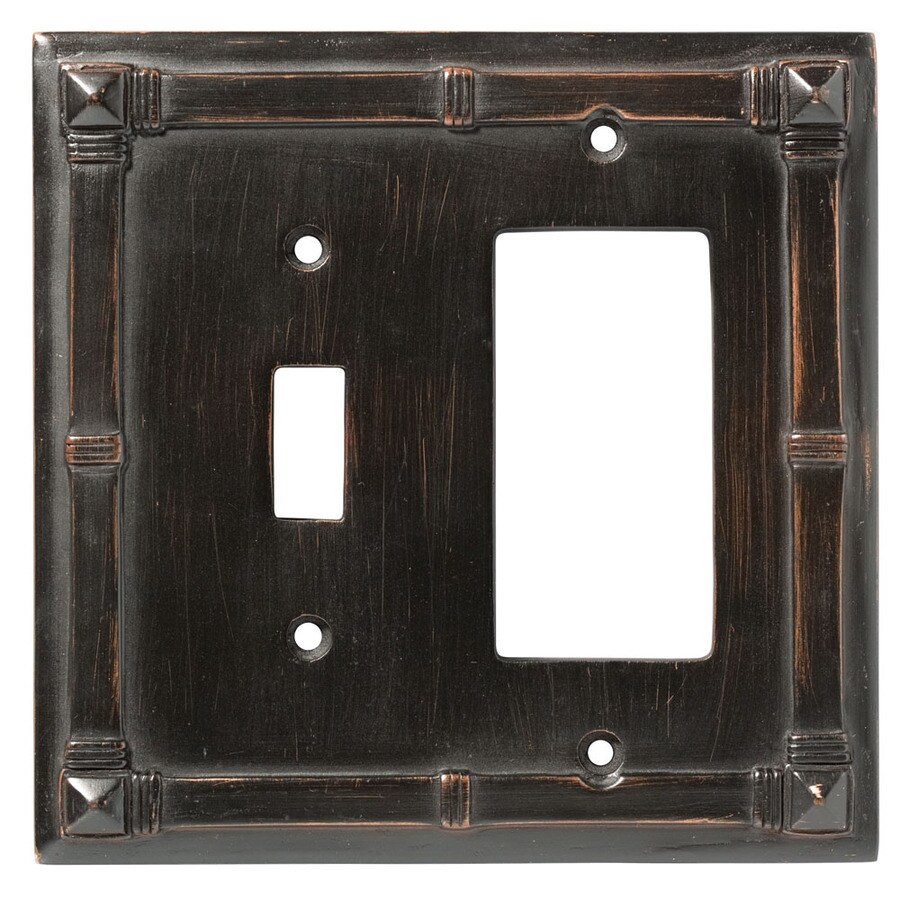 Brainerd 2-Gang Venetian Bronze Decorator Wall Plate