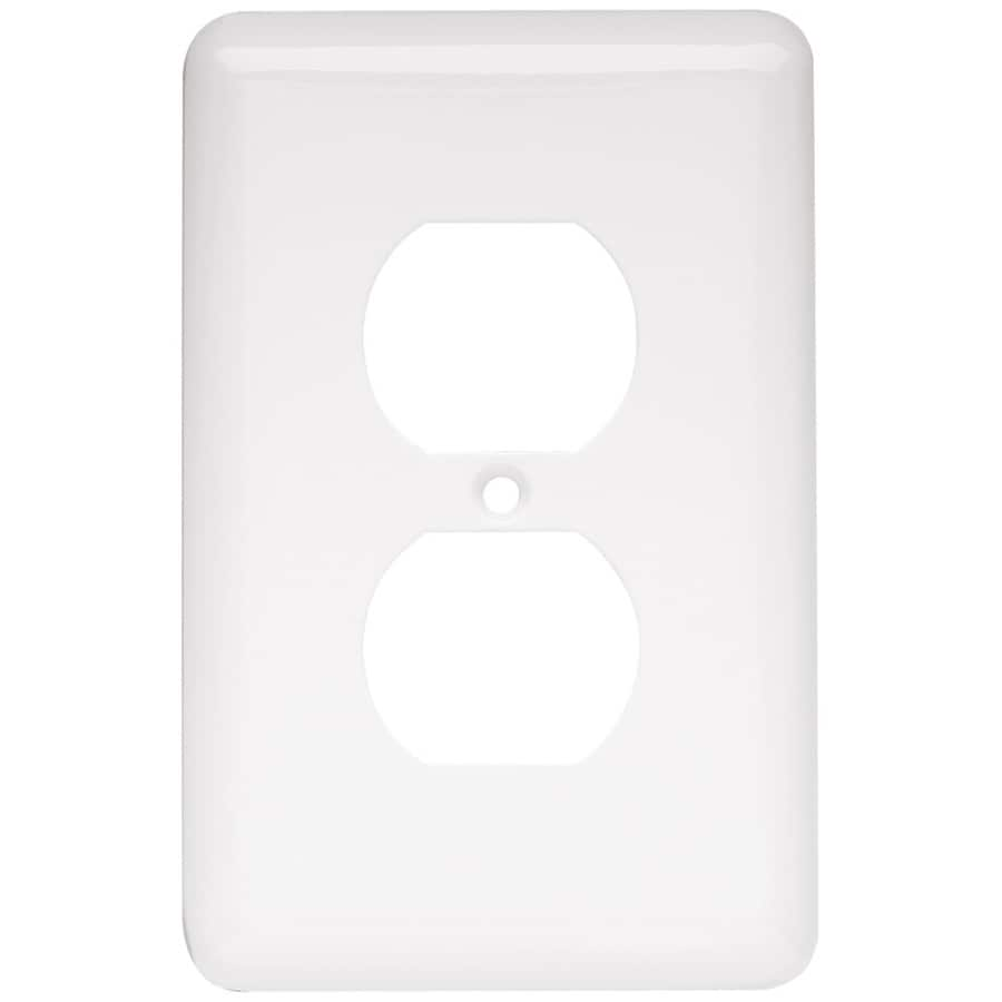 Style Selections 6-Pack 1-Gang White Round Wall Plates