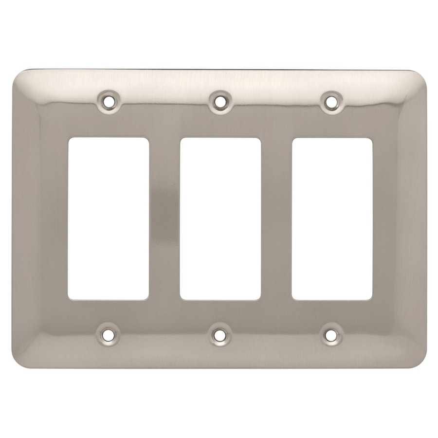 Style Selections 3-Gang Satin Nickel Decorator Wall Plate
