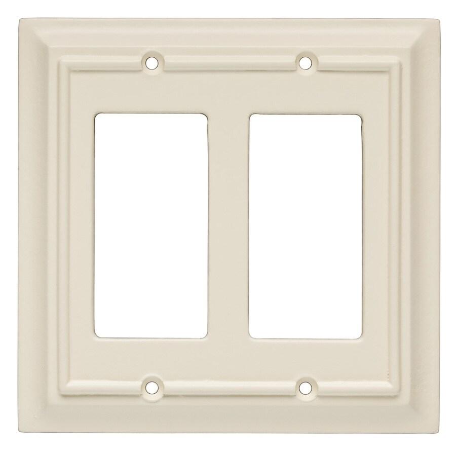 Brainerd 2-Gang Almond Decorator Wall Plate