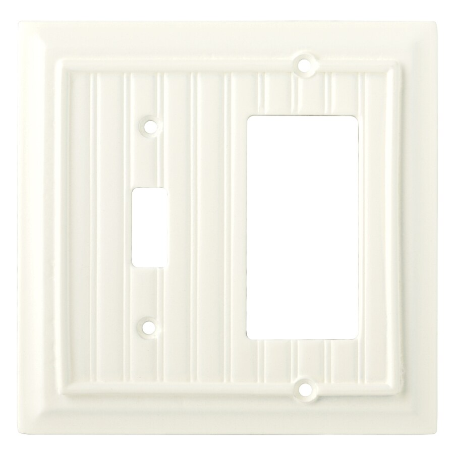 Brainerd 2-Gang Cream Decorator Rocker Wood Wall Plate