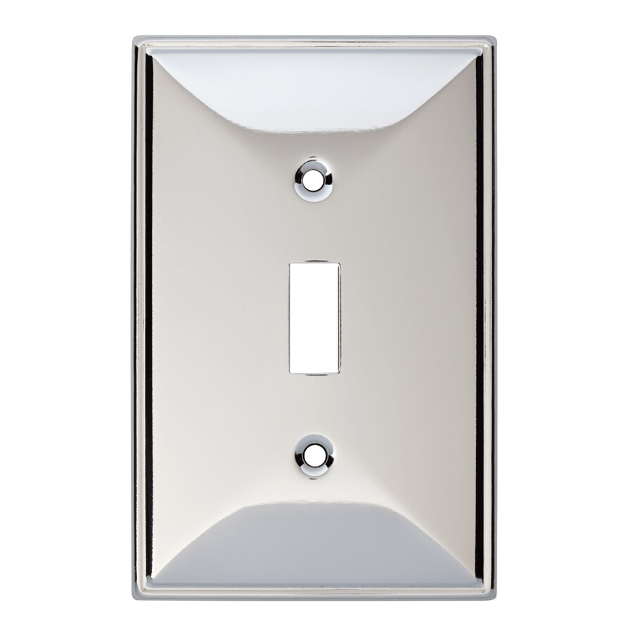 Brainerd 1-Gang Polished Chrome Toggle Wall Plate