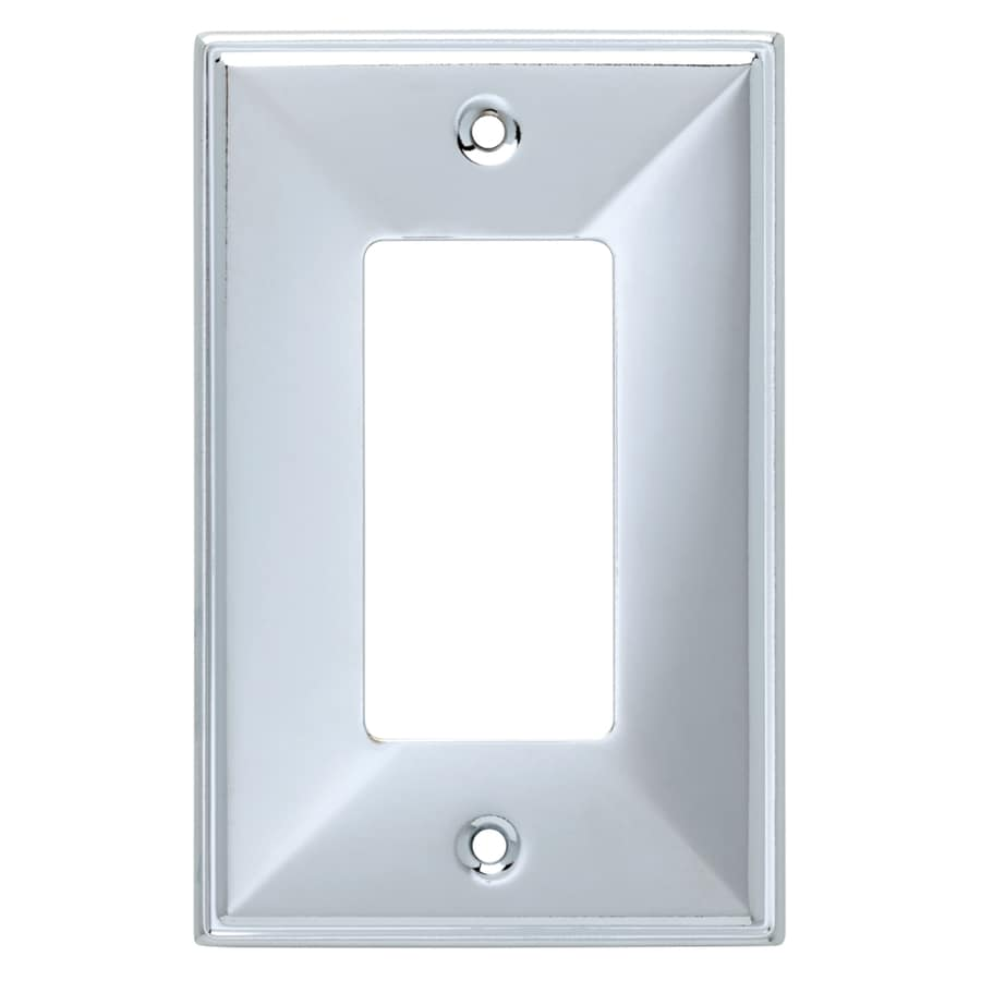 Brainerd 1-Gang Polished Chrome Decorator Wall Plate
