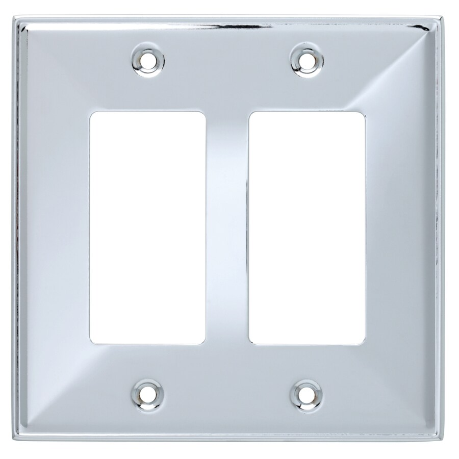 Brainerd 2-Gang Polished Chrome Decorator Wall Plate