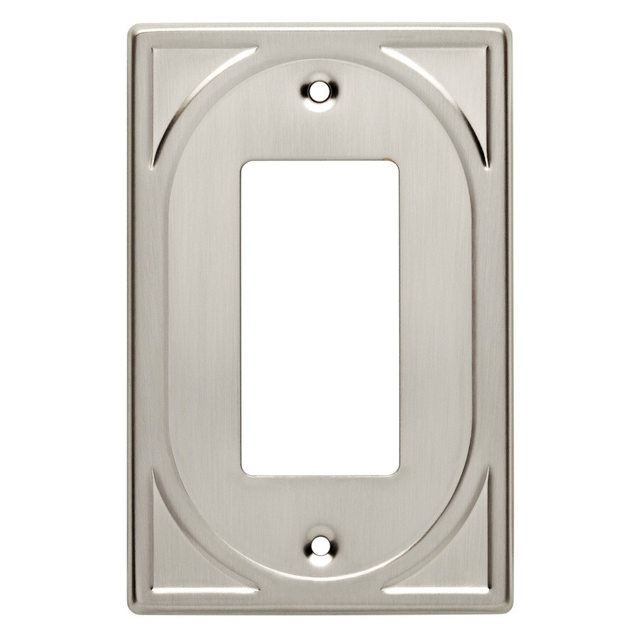 Brainerd 1-Gang Satin Nickel Decorator Wall Plate