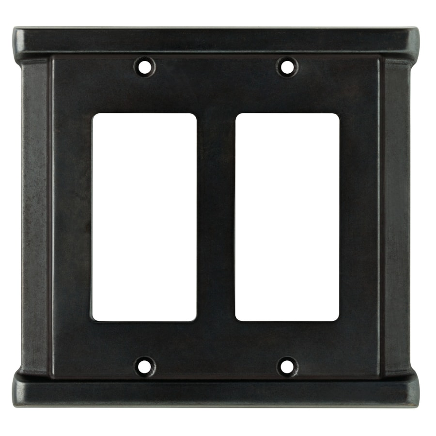 Brainerd Landen 2-Gang Soft Iron Decorator Wall Plate