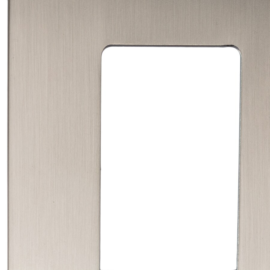 allen + roth Linden 1-Gang Satin Nickel Decorator Wall Plate