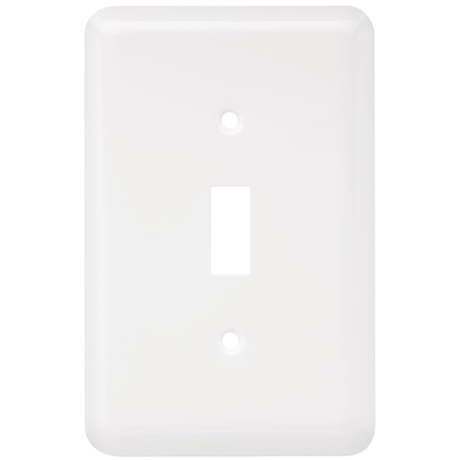 Style Selections Stamped Round 2-Gang White Double Duplex Wall Plate
