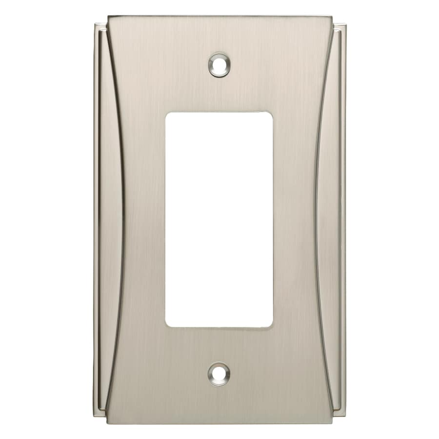 Brainerd Upton 1-Gang Satin Nickel Single Decorator Wall Plate
