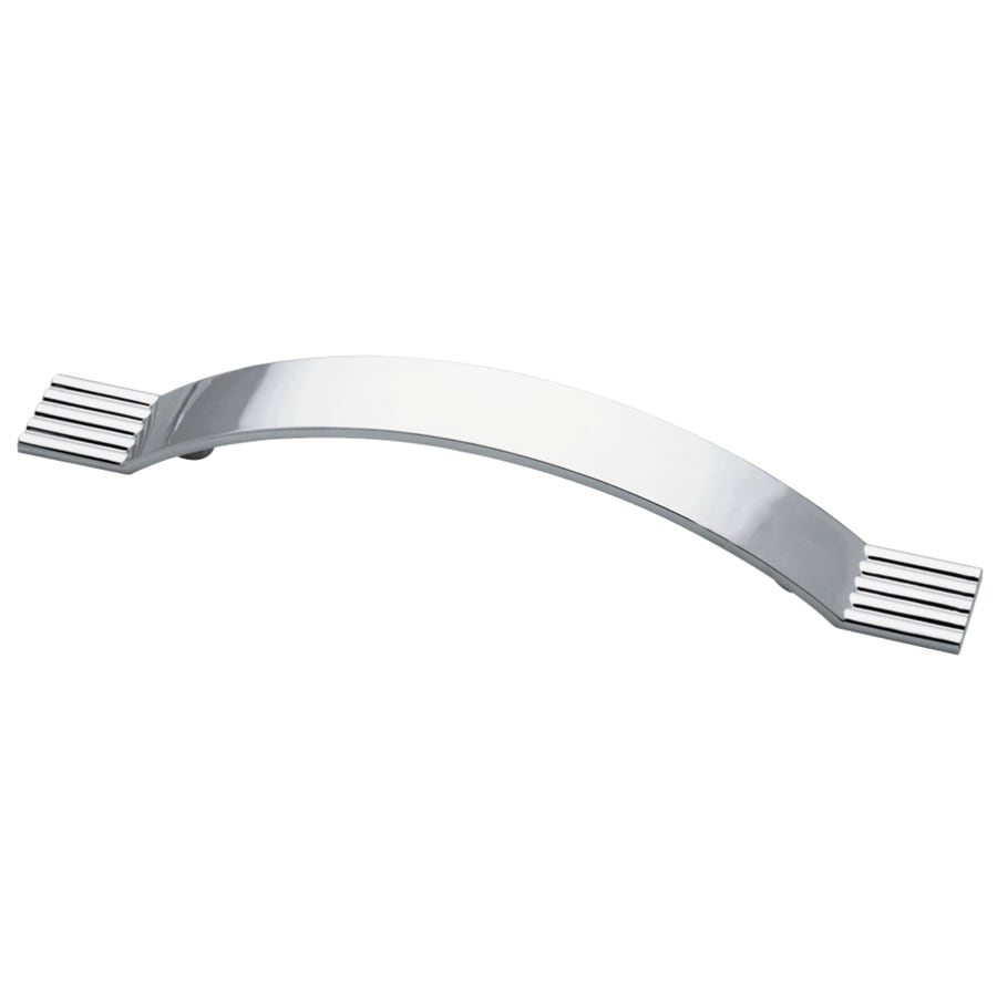 Motiv 128mm Center-to-Center Polished Chrome Geometric Arched Cabinet Pull