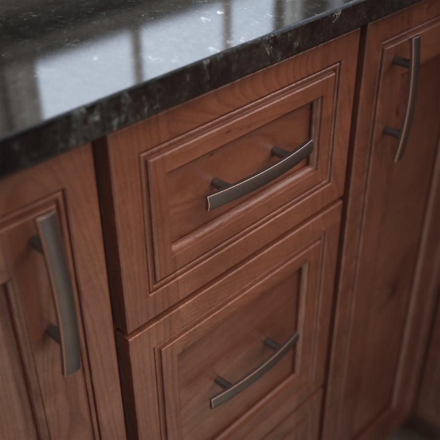 Brainerd 3-in Center-to-Center Bronze with Copper Highlights Arched Cabinet Pull