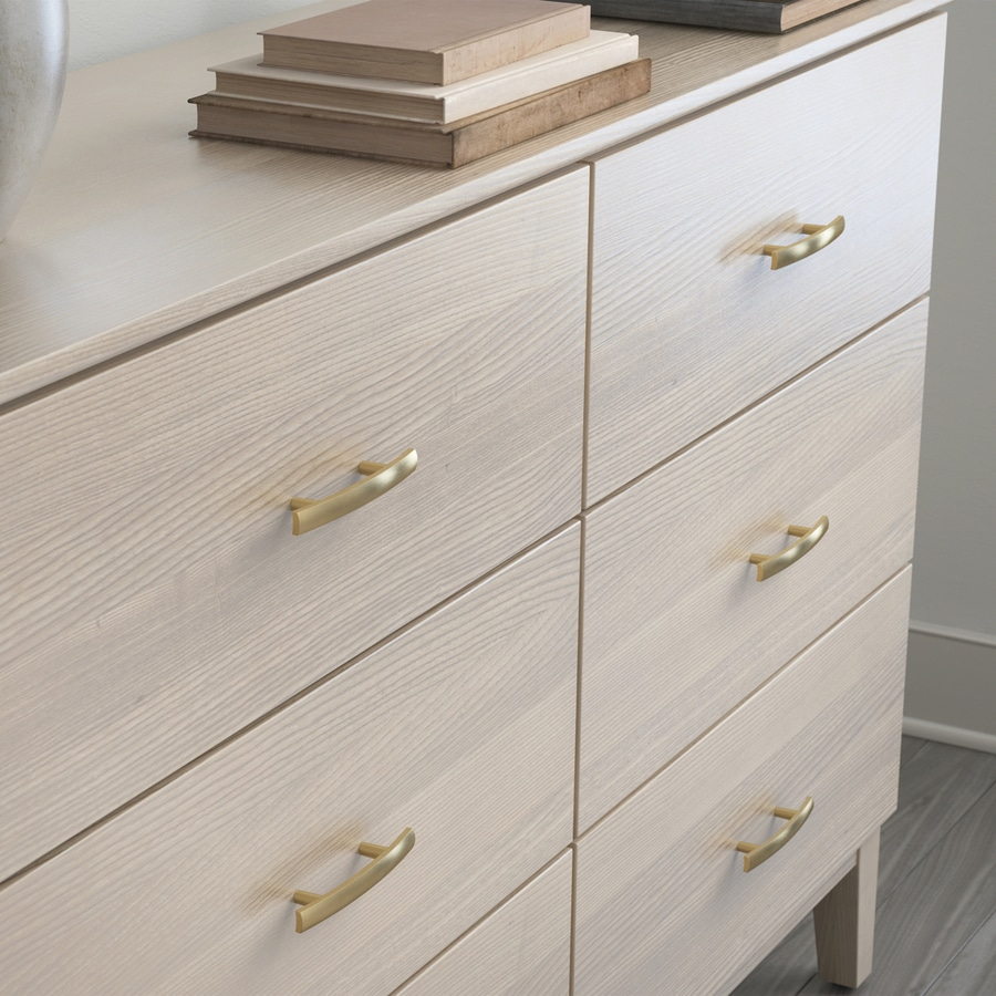 Brainerd 3-in Center-to-Center Champagne Bronze Arched Cabinet Pull