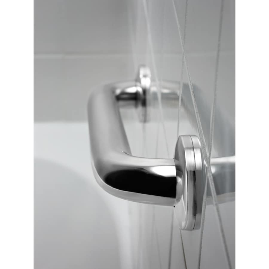 DELTA 18-in Peened and Bright Stainless Wall Mount Grab Bar