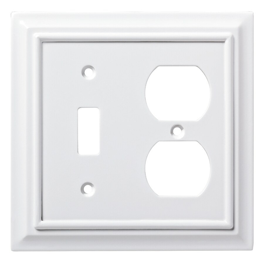 Brainerd Architectural 2-Gang Pure White Double Toggle/Duplex Wall Plate