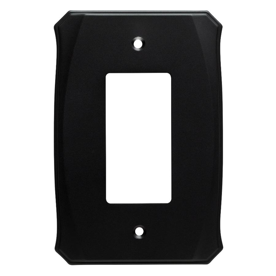 Brainerd Serene 1-Gang Flat Black Single Decorator Wall Plate