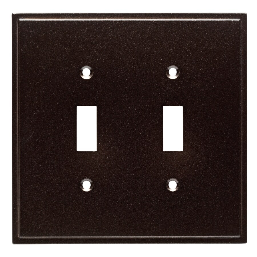 Brainerd Simple Steps 2-Gang Cocoa Bronze Double Toggle Wall Plate