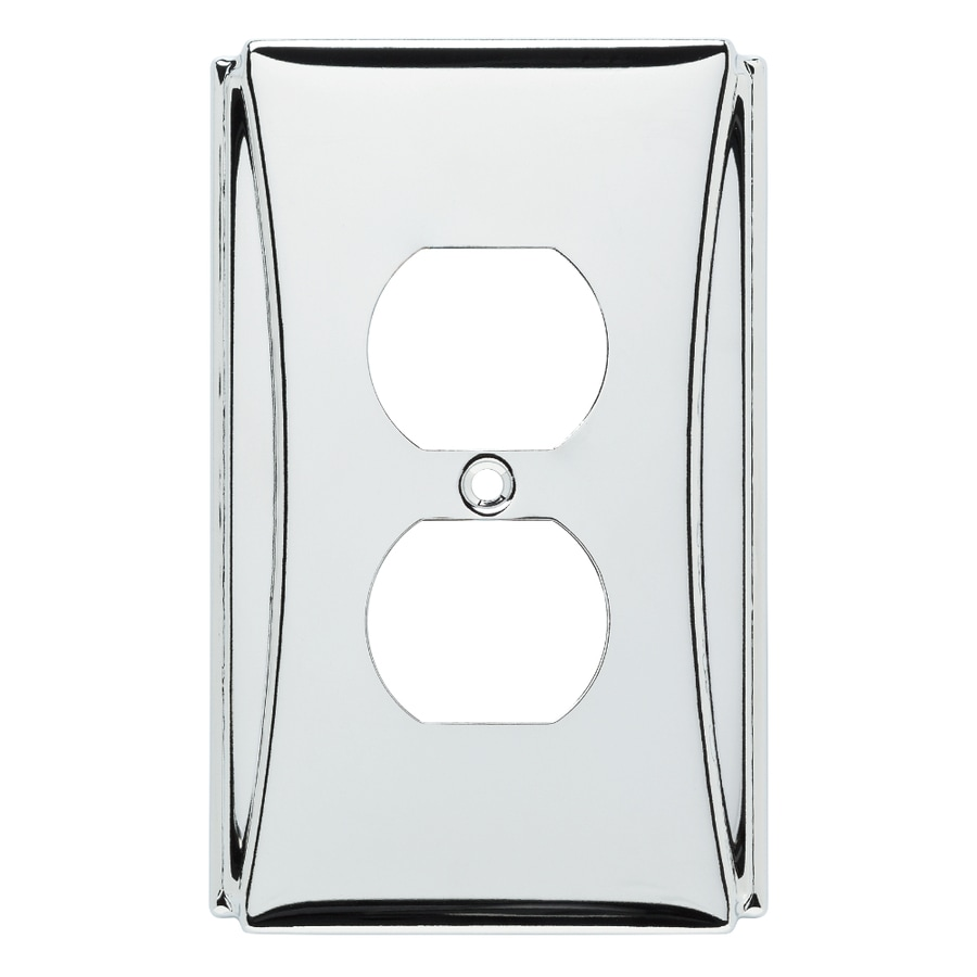 Brainerd Upton 1-Gang Polished Chrome Single Duplex Wall Plate