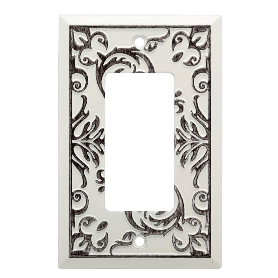 Brainerd Fairhope 1-Gang White Wash Single Decorator Wall Plate