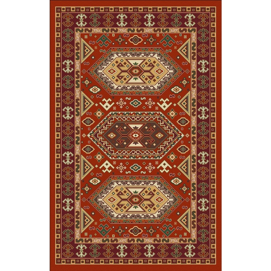 Regence Home Malmesbury Rectangular Red Geometric Woven Accent Rug (Common: 3-ft x 5-ft; Actual: 39-in x 55-in)