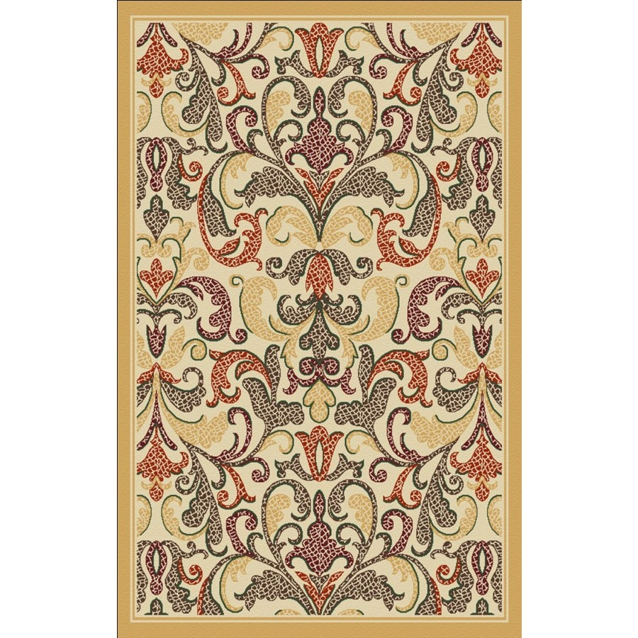 Regence Home Malmesbury Rectangular Cream Floral Woven Accent Rug (Common: 3-ft x 5-ft; Actual: 39-in x 55-in)