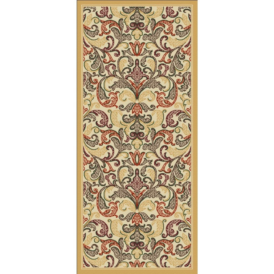Regence Home Malmesbury Cream Woven Runner (Common: 2-ft x 5-ft; Actual: 2.166-ft x 5-ft)