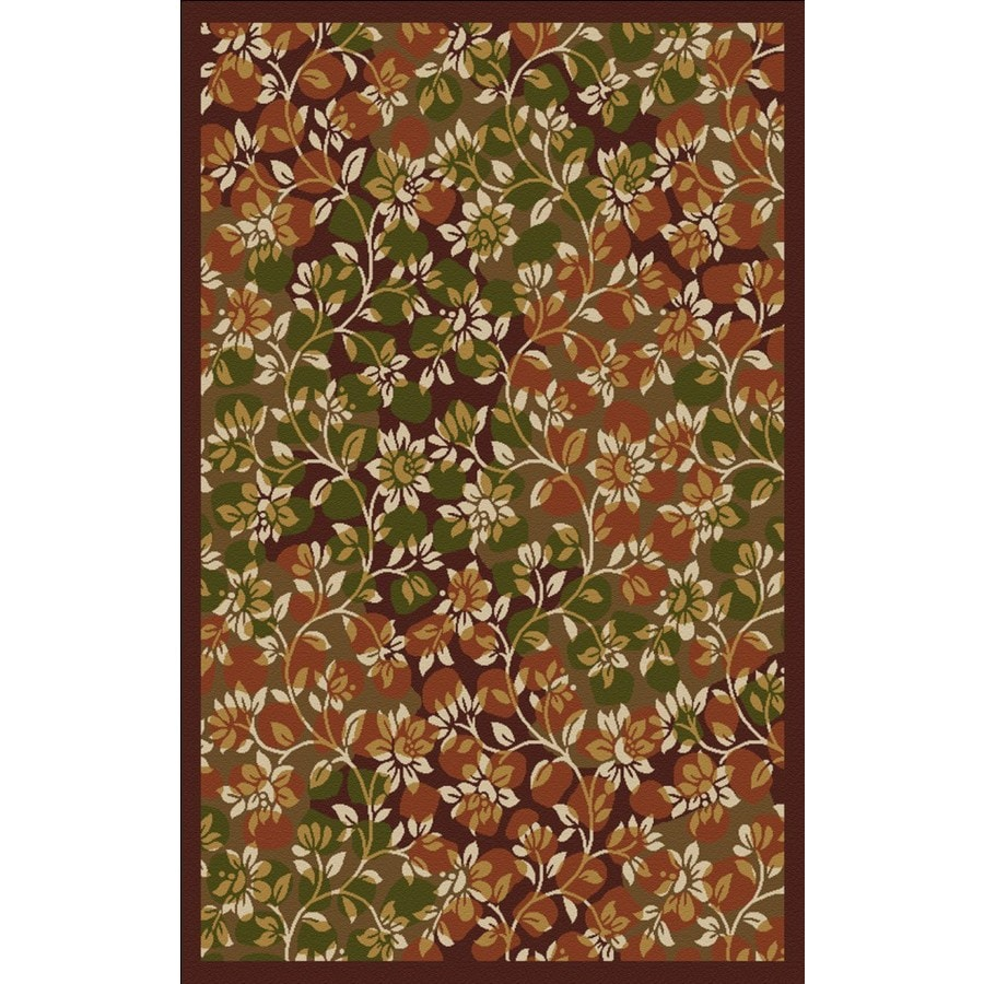 Regence Home Malmesbury 39-in x 55-in Rectangular Red Floral Accent Rug