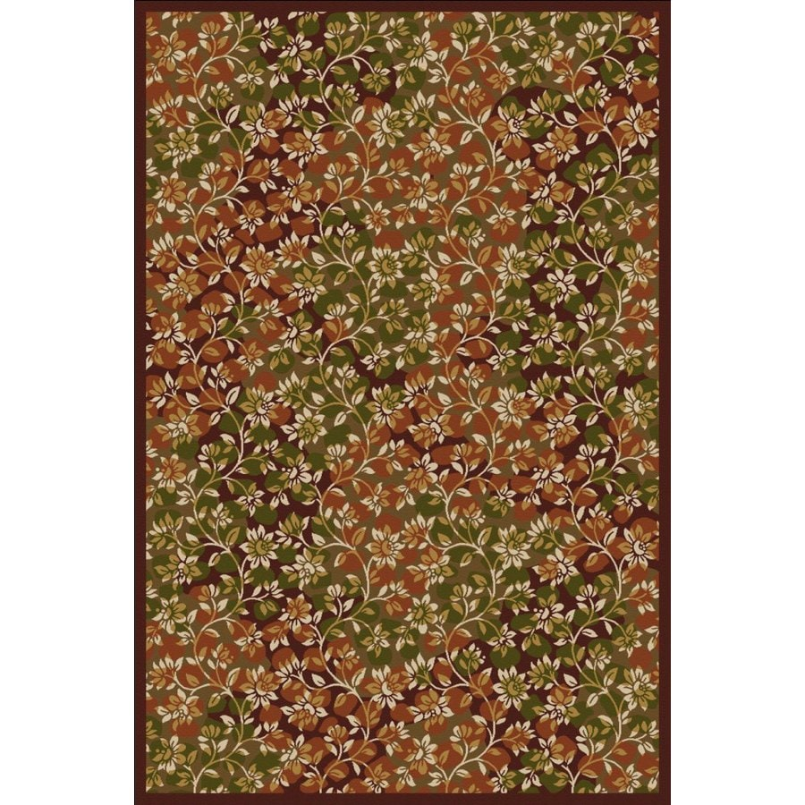 Regence Home Malmesbury Rectangular Multicolor Floral Woven Area Rug (Common: 5-ft x 8-ft; Actual: 5-ft x 7-ft)