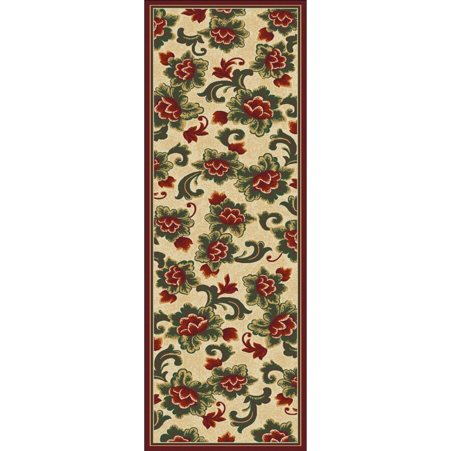 Regence Home Winchester Red Woven Runner (Common: 2-ft x 7-ft; Actual: 2.166-ft x 6.916-ft)