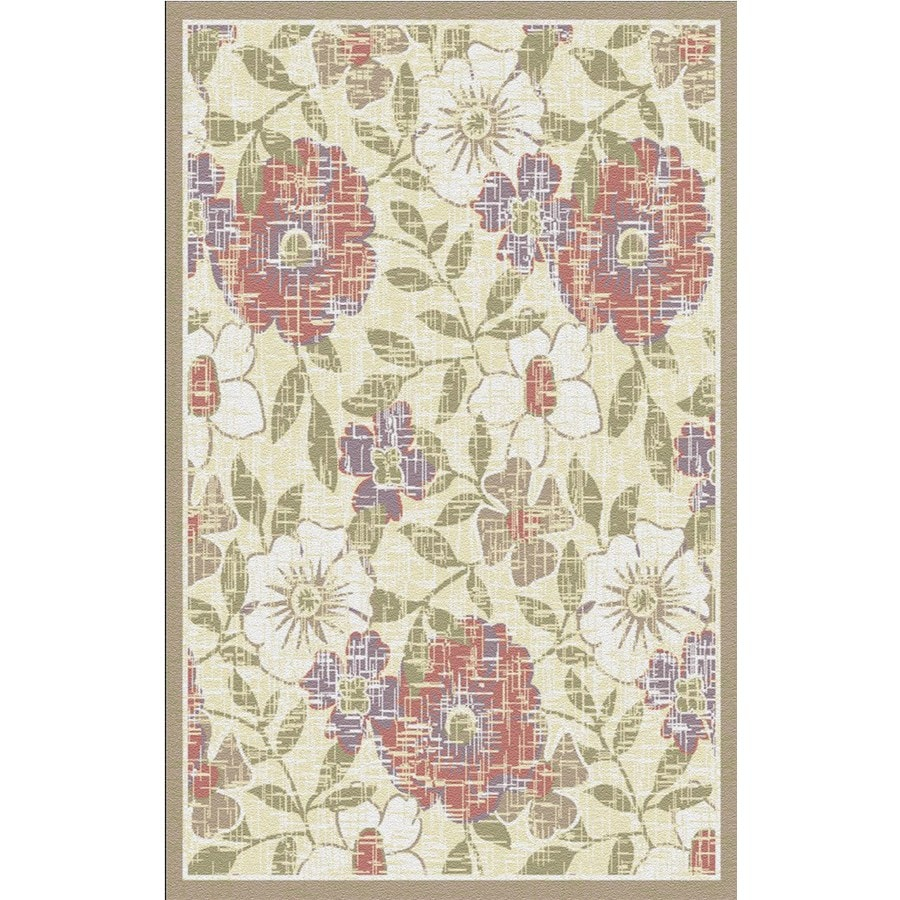 Regence Home Winchester Rectangular Cream Floral Woven Accent Rug (Common: 3-ft x 5-ft; Actual: 39-in x 55-in)