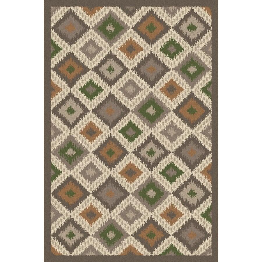 Regence Home Wellington Rectangular Gray Geometric Indoor/Outdoor Tufted Wool Area Rug (Common: 4-ft x 6-ft; Actual: 4-ft x 6-ft)