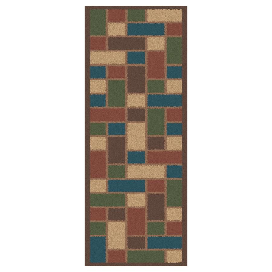 Regence Home Wellington Brown Indoor/Outdoor Tufted Wool Runner (Common: 2-ft x 8-ft; Actual: 2.166-ft x 8-ft)