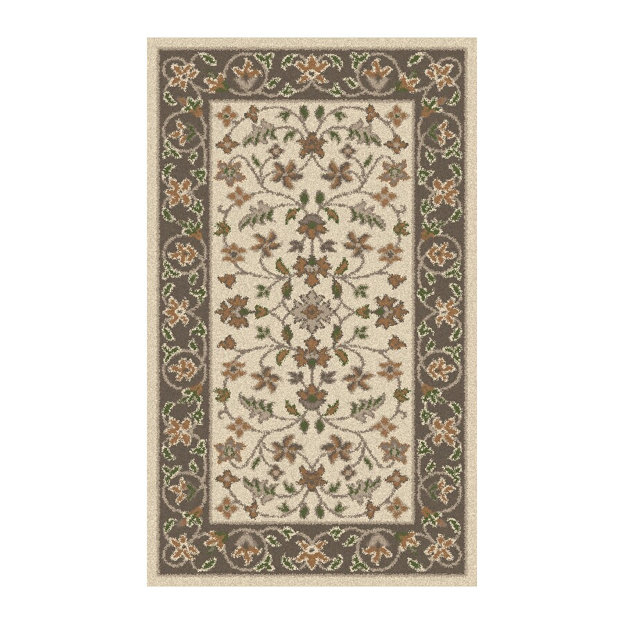 Regence Home Wellington Rectangular Cream Floral Tufted Wool Accent Rug (Common: 3-ft x 5-ft; Actual: 36-in x 60-in)