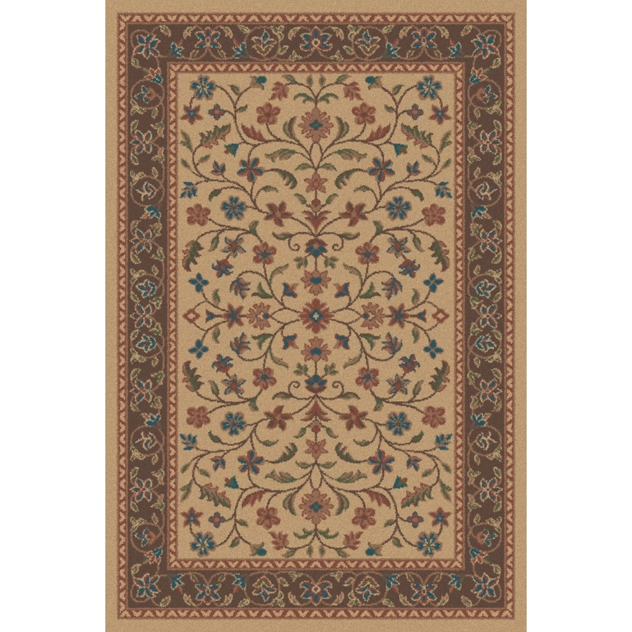 Regence Home Wellington Rectangular Brown Floral Indoor/Outdoor Tufted Wool Area Rug (Common: 6-ft x 9-ft; Actual: 6-ft x 9-ft)