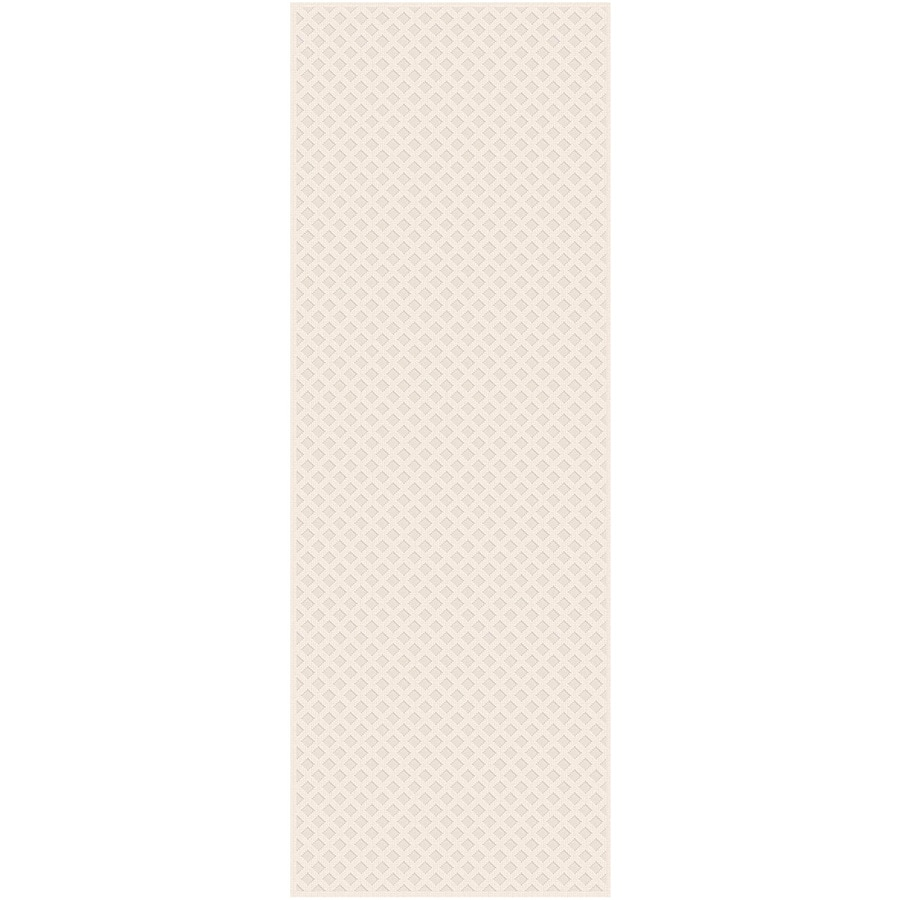 Regence Home Cheshire Cream Indoor/Outdoor Woven Wool Runner (Common: 2-ft x 8-ft; Actual: 2.166-ft x 8-ft)