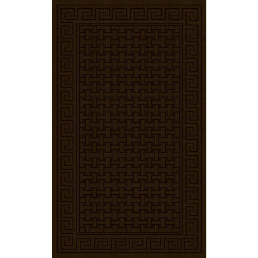 Regence Home Cheshire Rectangular Brown Geometric Woven Wool Accent Rug (Common: 3-ft x 5-ft; Actual: 36-in x 60-in)
