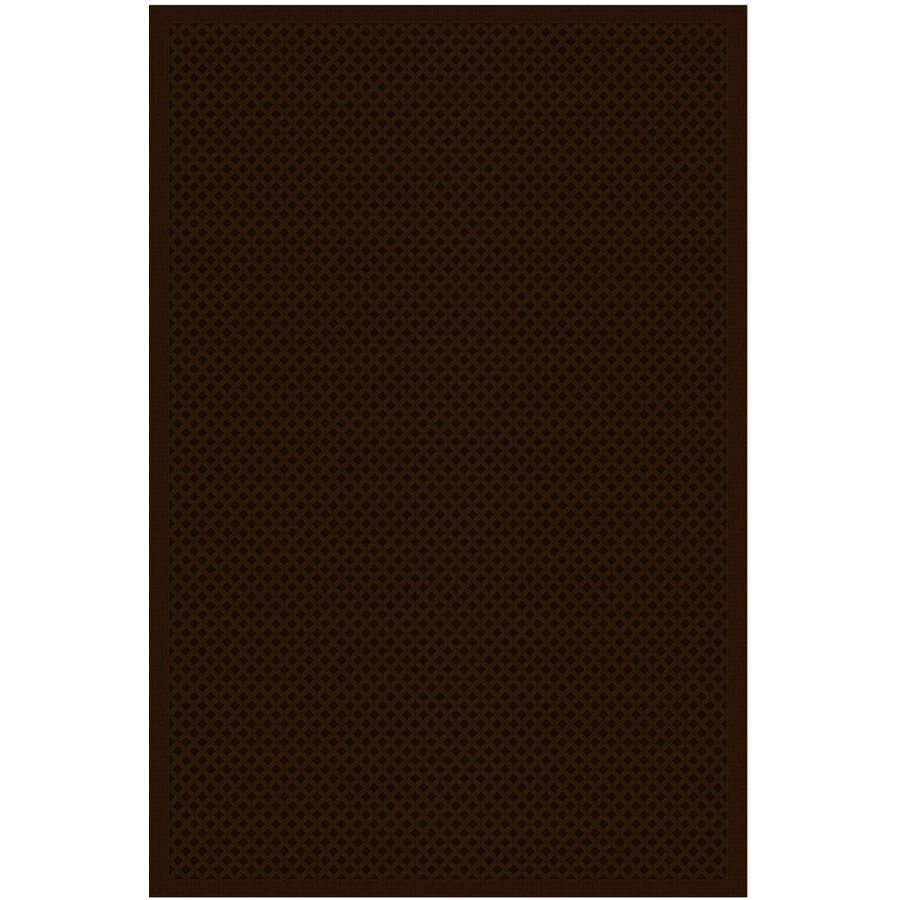 Regence Home Cheshire Rectangular Brown Geometric Indoor/Outdoor Woven Wool Area Rug (Common: 5-ft x 8-ft; Actual: 5-ft x 7.5-ft)