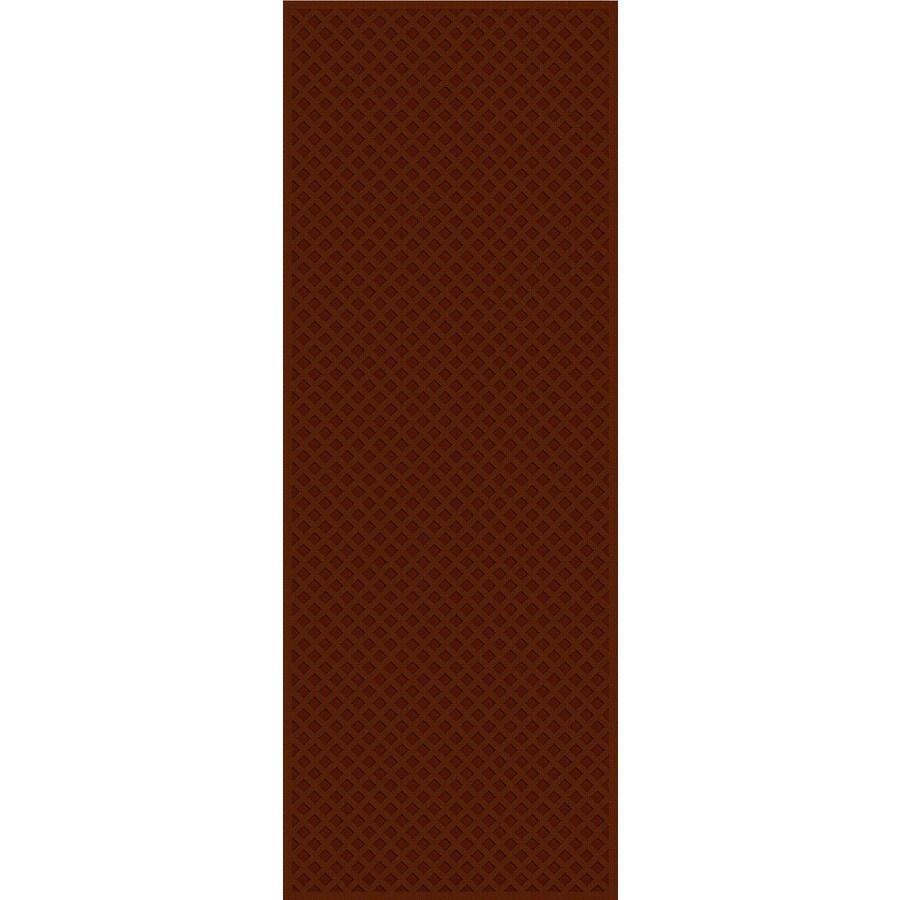 Regence Home Cheshire Redwood Rectangular Indoor Machine-Made Runner (Common: 2 x 8; Actual: 26-in W x 96-in L)
