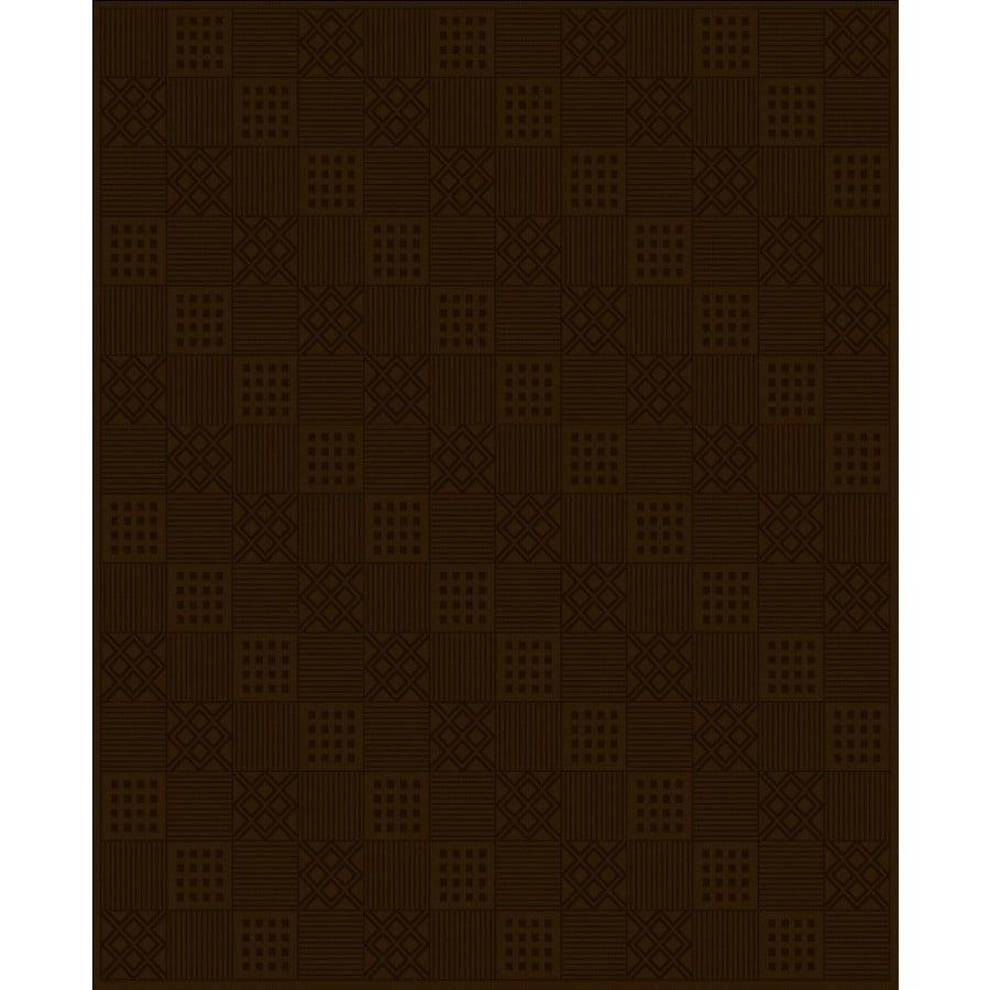 Regence Home Cheshire Rectangular Brown Geometric Indoor/Outdoor Woven Wool Area Rug (Common: 8-ft x 10-ft; Actual: 8-ft x 10-ft)